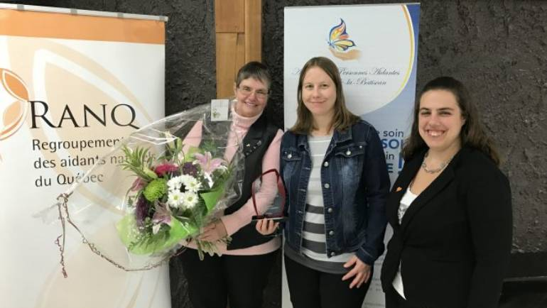 Félicitations à Éliette Lambert pour le Prix de reconnaissance des proches aidants 2017